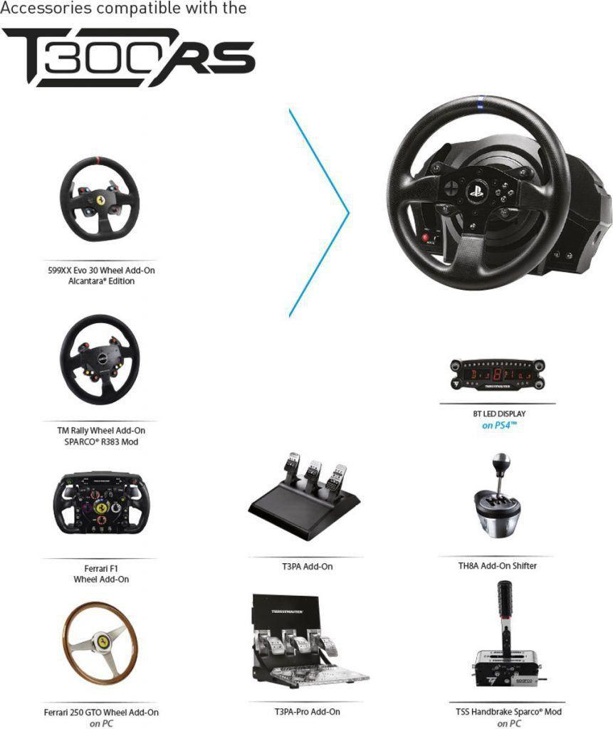 Thrustmaster T300 RS racestuur compatibel